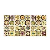 Zcxbhd PVC Marokko Stil Bodenaufkleber Keramikfliesen Zum Badezimmer Wohnzimmer Küche Rutschfest Verschleißfest 3D-Aufkleber (Farbe : A)