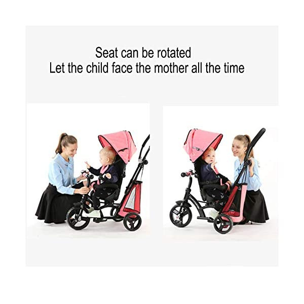 GSDZSY - Baby Tricycle Trike Stroller First Bike,3 In1 With Adjustable Push Handle Bar, 1.5-6 Years Old,Black GSDZSY  3