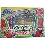 Sitc Yummies Stamp & Color Art Set With Mouth Watering Color Art Set 22 Pieces