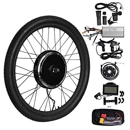 """Vogvigo 26"""" Bicicleta Eléctrica Rueda Delantera Motocicleta Kit de Conversión E-Bicicleta Hub con LCD Display (48V-1000W)"""