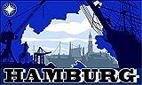 UB Fahne / Flagge Hamburg Skyline 90 cm x 150 cm Neuware!!!