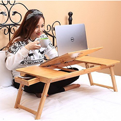 Parasnath Prime Offer Laptop Bamboo Wooden Table, Foldable, Multipurpose (Study / Reading / Eating / Craft-work) Laptop Table (Lifetime Warranty*Made In India)  available at amazon for Rs.1299