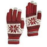#8: Krystle Men's/ Women's Touch Screen Magic Gloves Knitted Winter Warm Smart Phone Mittens (pack of 1)