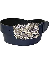 75f8cc407975 FRONHOFER Ceinture colibri à boucle oiseau argentée, ceinture en cuir pour  femme colibri, ...