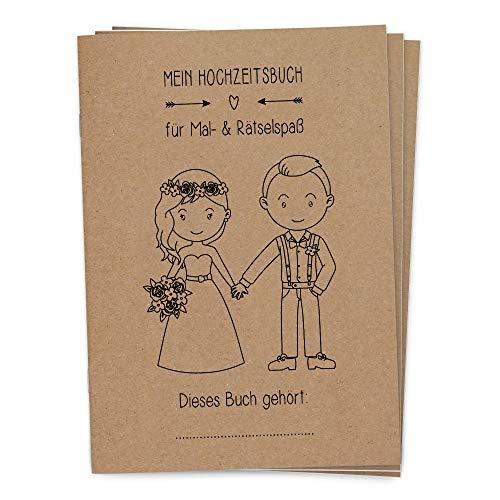 Hochzeitsmalbücher im Boho Vintage-Stil