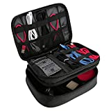 ProCase Electronics Travel Organizer Storage Bag, Double Layer Universal Traveling Gear Accessories Carrying