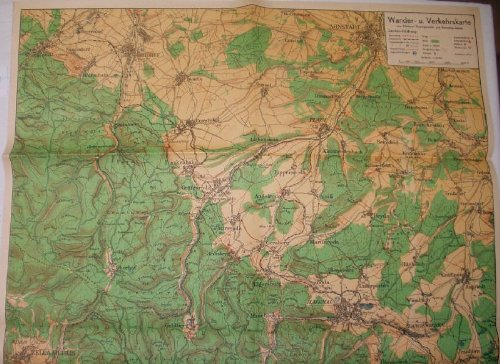 Bestell.Nr. 916480 Wander- u. Verkehrskarte vom Mittleren Thüringerwald- und Rennsteig-Gebiet