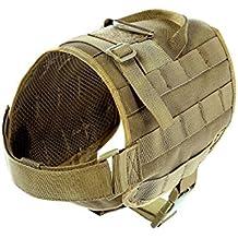 Yisibo Military Tactical-Molle da addestramento per cani in Nylon compatto, cintura e gilet, giacca e gilet per escursionismo, camminata 1000D tessuto