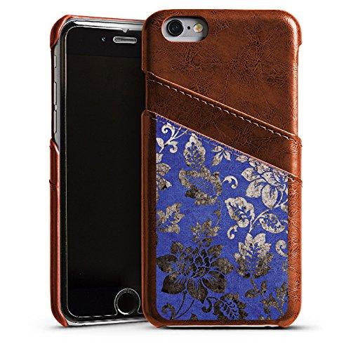Apple iPhone 4 Housse Étui Silicone Coque Protection Ornement Fleurs Fleurs Étui en cuir marron