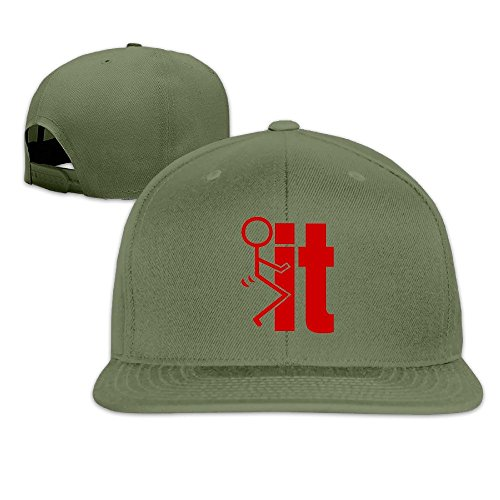 Hittings Unisex Funny Fuck It Sticker Adjustable Snapback Baseball Caps Ash One Size ForestGreen par  Hittings