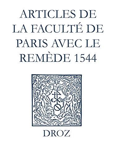 Recueil des opuscules 1566. Articles de la Faculté de Paris avec le remède (1544) (Ioannis Calvini Opera Omnia) par Jean Calvin
