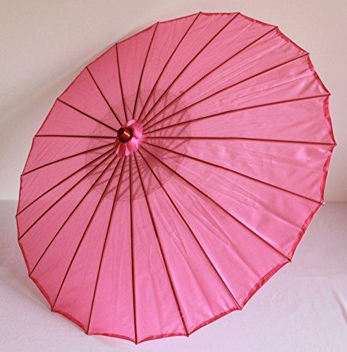 AAF Nommel  Deko- Sonnenschirm aus Holz in pink rosa, einfarbig transparent, 104