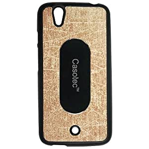 Casotec Metal Back TPU Back Case Cover for Micromax Canvas A1 - Gold