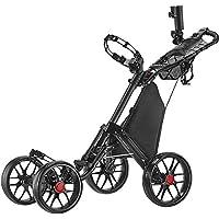 Caddytek Carro de Empuje de Golf de un Solo Clic, Plegable, 4 Ruedas, versión 3 (Dark Grey)
