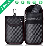 2 Pack Faraday Bag | Car Key Signal Blocking Pouch | Keyless Entry Car Keys Case | RFID Blocker Bag for Car Security