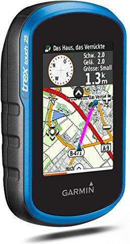 "Garmin eTrex Touch 25 GPS Portatile, Schermo 2.6"", Mappa TopoActive Europa Occidentale, Nero/Blu"
