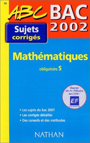 Bac 2002 Mathématiques obligatoire S