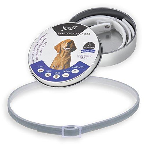 Collar Antiparasitario Gatos/Perros para Contrar los parásitos Pulgas, Garrapatas, Piojos y Mosquitos(XL)
