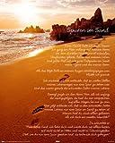 Poster Spuren im Sand Gedicht - Größe 40 x 50 cm - Miniposter