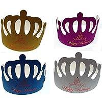 PICCOLI MONELLI Corona Compleanno Happy Birthday 4 pz brillantinata 4 pz  Colore Diversi Come in Foto 79f400b14271