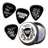 Green Day Black Médiators guitare en étain Tin (HB)