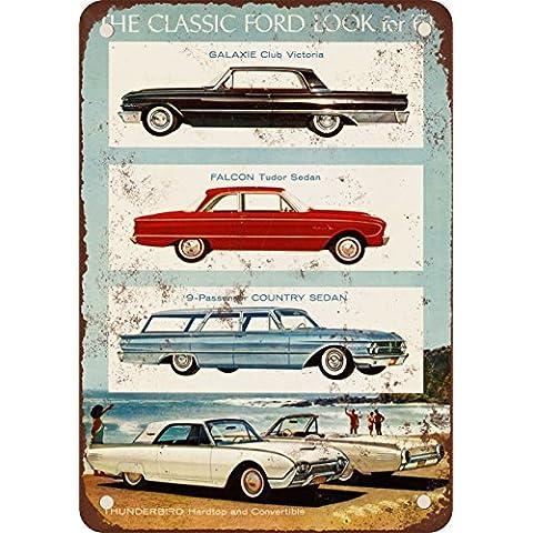 1961Ford Classic Look Vintage Look reproducción Metal Tin Sign 12x 16pulgadas