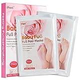 Premium Fußmaske, Babyfüße, Fuß Peeling Maske, Peeling Socken, iSuri 2 Paar Roseextrakt Exfoliating Foot Peel Mask für Männer Frauen- hervorragende Ergebnisse in 3-7 Tagen … Vergleich