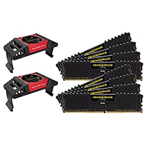 Corsair CMK64GX4M8X3800C19 Vengeance LPX 64 GB (8 x 8 GB) DDR4 3800 MHz C19 XMP 2.0 High Performance Desktop Memory Kit with Airflow Fan, Black