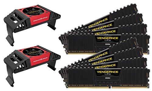 Corsair Vengeance LPX Memorie per Desktop a Elevate Prestazioni con Airflow Fan, 128 GB (8 X 16 GB), DDR4, 3800 MHz, C19 XMP 2.0, Nero