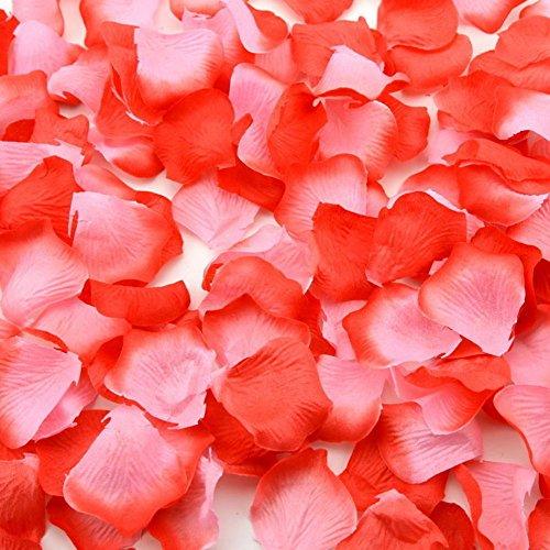 Farben Silk Blumen Rosenblätter Hochzeit Dekorationen (C) ()