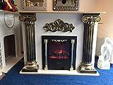 Betro der Kamin White-Barock Elektrokamin, Medusa, mäander Kamin, E-Kamin,electric Barock fireplace, Elektrischer Kamin 10/12 Moderm