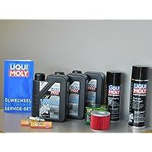 Mantenimiento Set Suzuki GS 500 E/F aceite de aceite Bujía ölwechsel Inspección