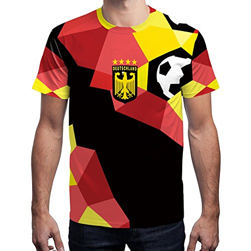 For G and PL WM 2018 2018 Herren Deutschland Fußball Team T-Shirt Party Fan Außen Sport Trikot Germany Motiv 4 L