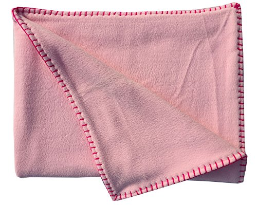 Wobbly Walk Reversible Fleece Blanket (Light Pink)