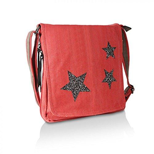 Glamexx24 Elegante borsa a tracolla in stile lacca in diversi colori Rosso