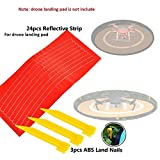 LITEBEE Drone Landing Pad Reflective Strip ( 3 Set , 24pcs ) and ABS Land Nails ( 3pcs ) Quadcopter Helicopter Landing Pad