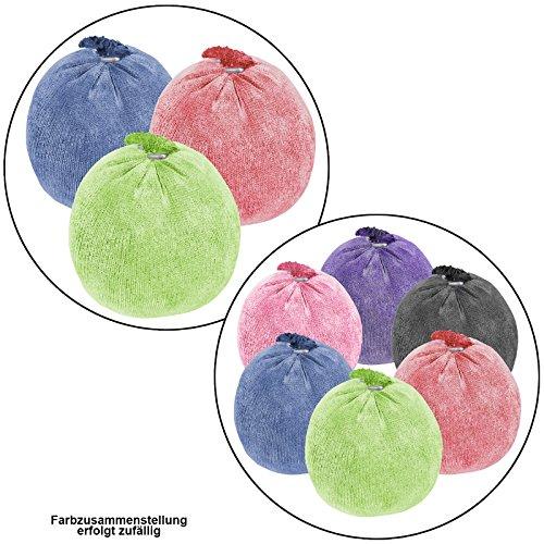 ALPIDEX Chalk Ball Bunte Chalkbälle Kletterkreide Bouldern Klettern Fitness Gym Turnen Pole Dance Gewichtheben Chalkball Kreideball, Menge:3 x 35 g, Farbe:Mixed Colours