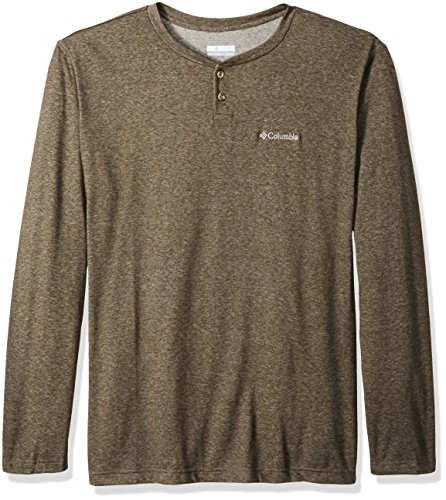 Columbia Men's Thistletown Park Big and Tall Henley, Surplus Green Heather, 3X (Henley Columbia)