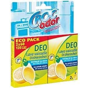 Croc'Odor - Désodorisant - Zefiron Lave-Vaisselle Agrumes - x 2 - Lot de 2