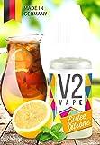 V2 Vape E-Liquid Eistee Zitrone ohne Nikotin - Luxury Liquid für E-Zigarette und E-Shisha Made in Germany aus natürlichen Zutaten 10ml 0mg nikotinfrei