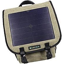 Baoblaze Mochila Deportiva con Función de Carga Solar con Panel Solar Integrado DC 6V 6,