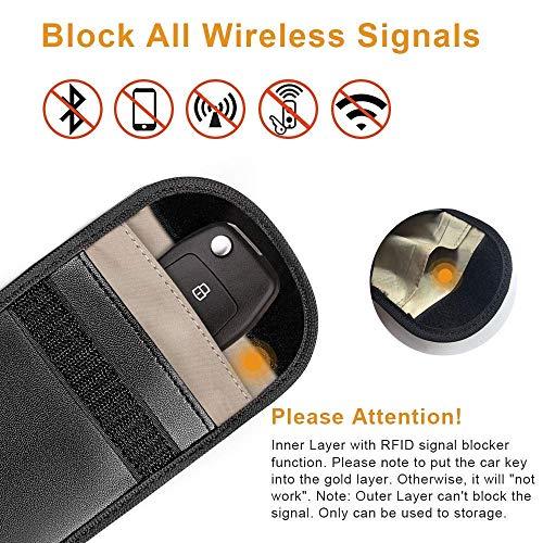 GPS Goose Signal Blocker 2pezzi mobile e dispositivi di automobile Protect from RFID boosters & GPS Tracking schermatura radiazioni bag, Smartkey KEYLESS antifurto bloccaggio Jammer sacchetto (nero)