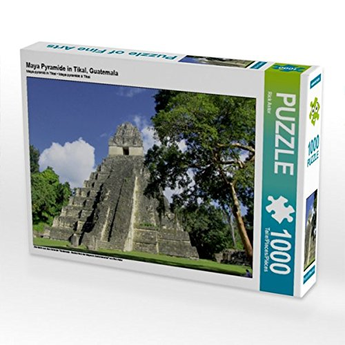 Maya Pyramide in Tikal, Guatemala 1000 Teile Puzzle quer Preisvergleich
