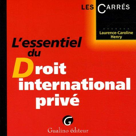 L'essentiel du Droit international privé