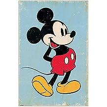 Artopweb Pannelli Decorativi Panel Decorativo con Diseño Mickey Mouse Retro, Madera, Multicolor, 60x3x90 cm