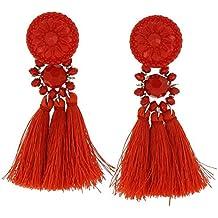 pendientes rojos amazon