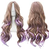 13 Farben wellig Frauen Perücke hohe Temperatur Faser synthetischer Haarteil lange Ombre Haar Perücken Cosplay #144 28 Zoll