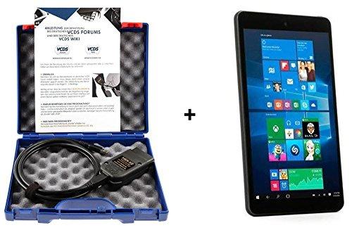"""Preisvergleich Produktbild Original Ross-Tech® HEX-V2® VCDS Vin3 Fehlerauslesegerät + Tablet PC 8"""" Win10 Diagnosegerät VAG-Tester"""
