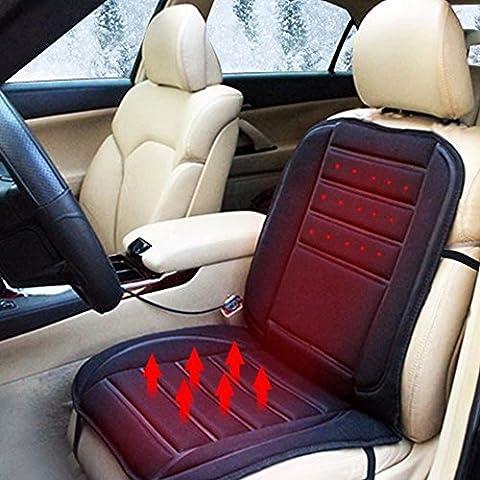 Cojín con calefacción para asiento de vehículo ezykoo Premium calidad cómodo 12V Auto asiento con calefacción, calentador para coches, camiones, SUV, y barcos en invierno