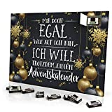 """Adventskalender """"Mir doch Egal wie alt ich bin, ich will trotzdem einen Adventskalender"""" - mit Schokolade - Design Weihnachtskalender, Schoko-Adventskalender mit Spruch"""